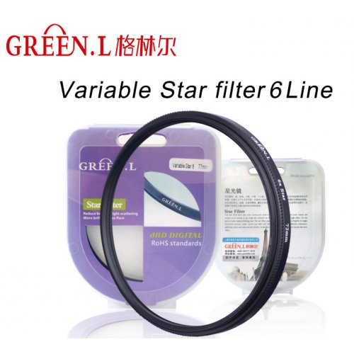 slim filtr star hvězdičkový JYC D-HD x6 49mm