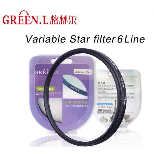 slim filtr star hvězdičkový JYC D-HD x6 77mm