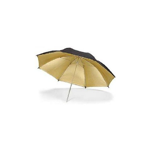 ateliérový deštník zlatý 150cm Quadralite