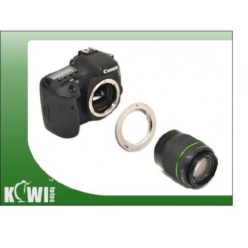 Kiwifotos redukce Pentax K na Canon EOS