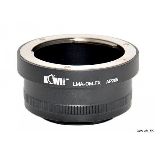 Kiwifotos redukce Olympus OM na Fujifilm X-Pro 1