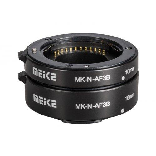 makro mezikroužky Meike pro Nikon 1 s přenosem clony ECO