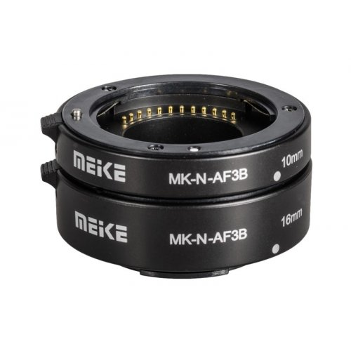makro mezikroužky Meike pro Sony E NEX s přenosem clony ECO