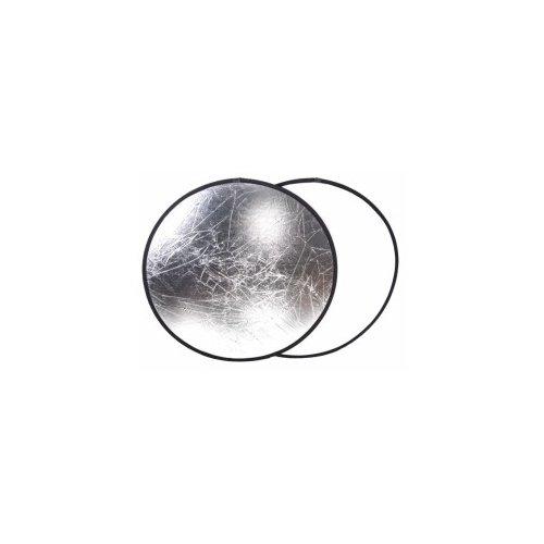 2v1 odrazná deska 80x80cm bílo stříbrná 2 barvy