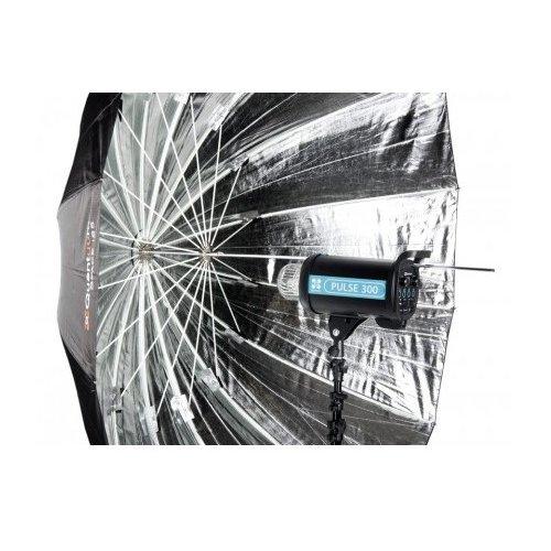 ateliérový deštník Space stříbrný 185cm Quadralite