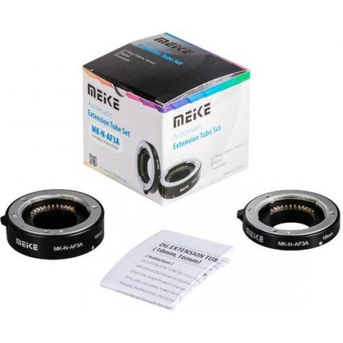 makro mezikroužky Meike pro Nikon 1 s přenosem clony