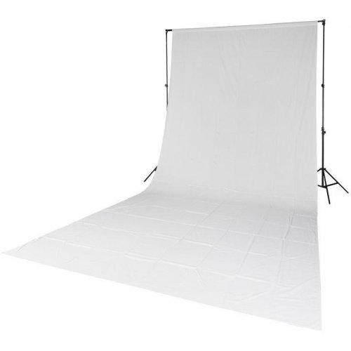 fotografické pozadí textilní bílé 2,85x6m Quadralite