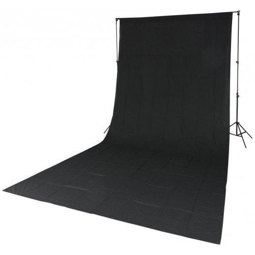 fotografické pozadí textilní černé 2,85x6m Quadralite