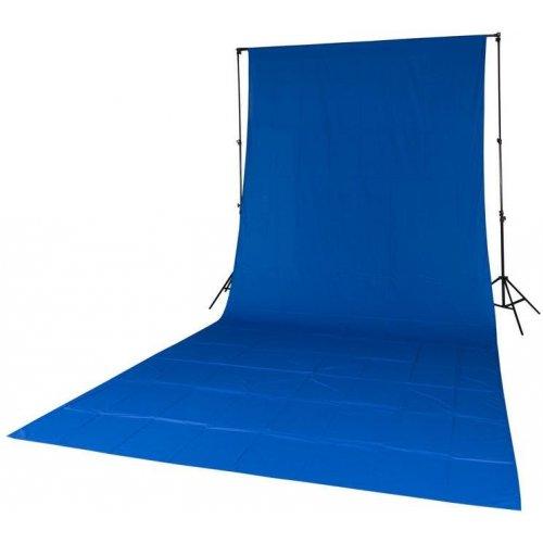 fotografické pozadí textilní modré 2,85x6m Quadralite