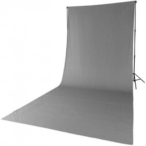fotografické pozadí textilní šedé 2,85x6m Quadralite