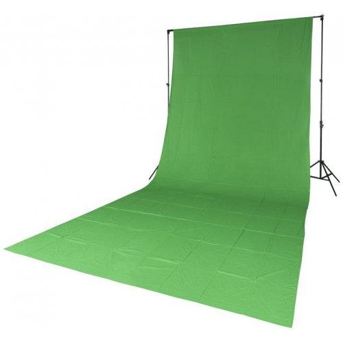 fotografické pozadí textilní zelené 2,85x6m Quadralite