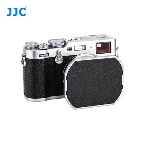 JJC sluneční clona Fujifilm JX100FII stříbrná + krytka