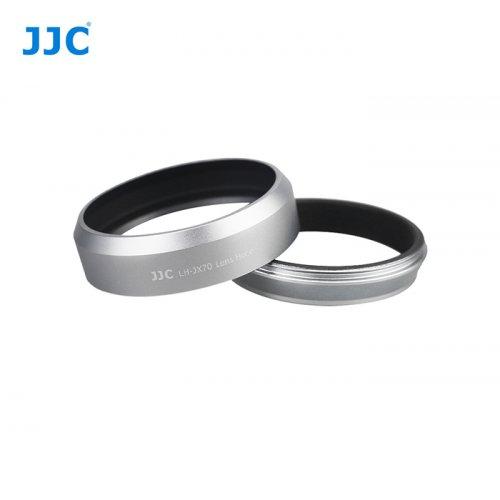 JJC sluneční clona Fuji X70 - LH-X70 stříbrná