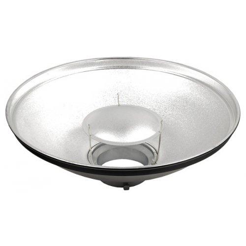 Beauty dish Quantuum 42cm stříbrný + voština 42cm