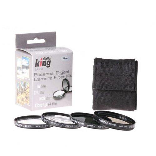 4ks sada filtrů Digital King CPL+UV+ ND8 +4 55mm
